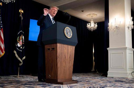 Donald Trump verteidigt bei Pressekonferenz Gäste ohne Maske