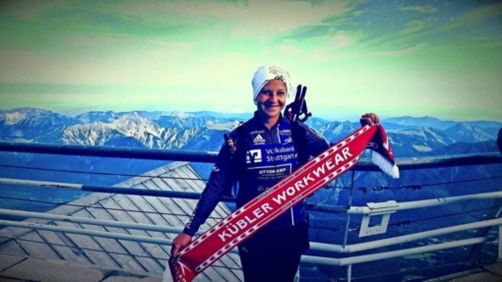 Steffi Praher auf der Zugspitze Foto: privat