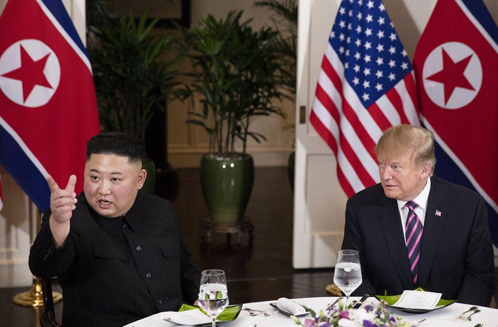 Kim Jong Un (links) und Donald Trump konnten sich beim Abrüstungsgipfel nicht einigen. Foto: Weißes Haus