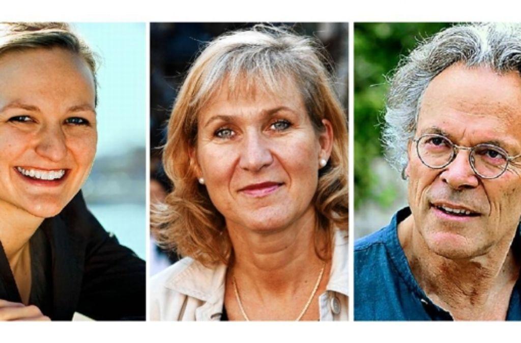 Sie wollen im Rhein-Neckar-Kreis für den Bundestag kandidieren: die Grünen Franziska Brantner, Caja Thimm und Dierk Helmken (von links). Foto: StZ