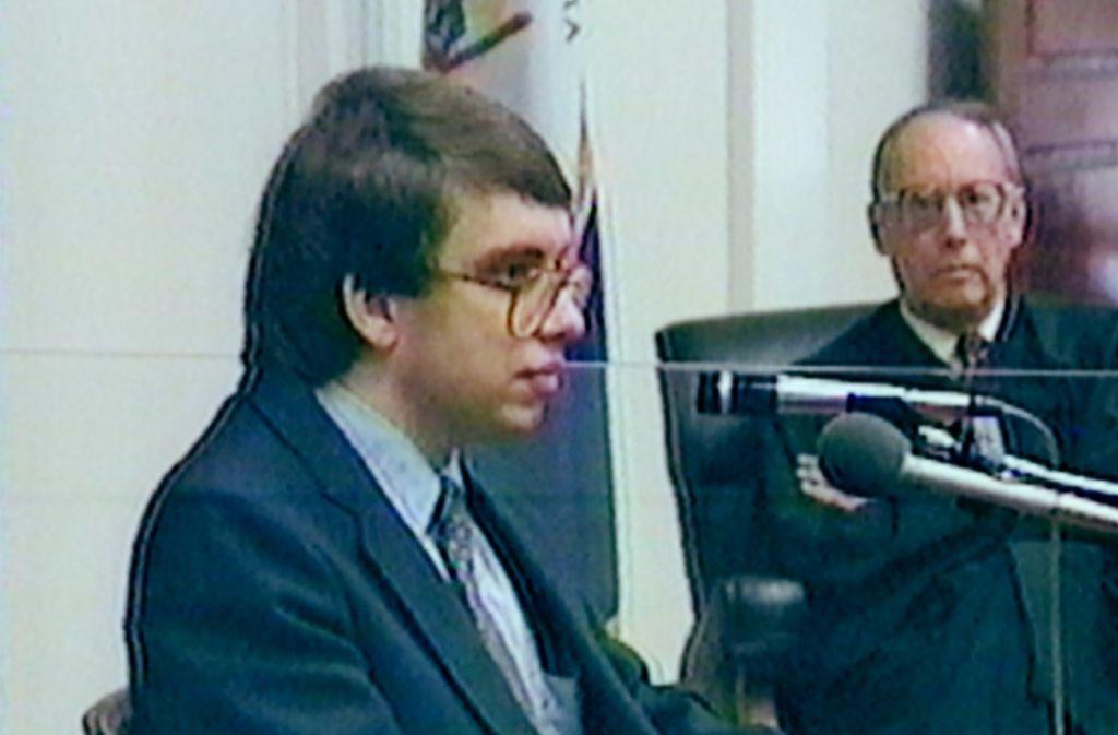 Der deutsche Angeklagte Jens Söring vor einem US-Gericht im Jahr 1990: War das Verfahren fair? Foto: Farnfilm Verleih