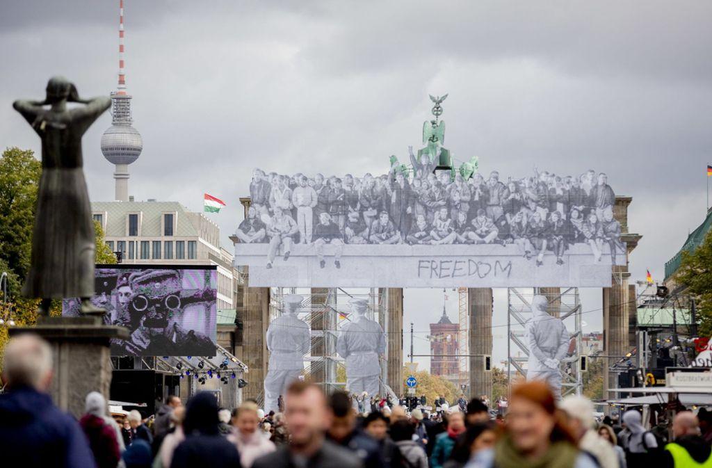 Tag der Deutschen Einheit in Berlin. Foto: dpa