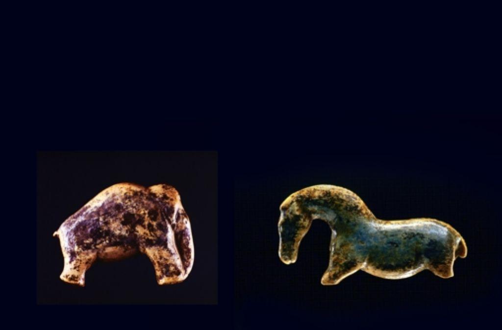 Bekommen das Elfenbeinmammut und das Pferd aus der Vogelherdhöhle bald weitere Gesellschaft? Foto: StZMontage: Schlösser