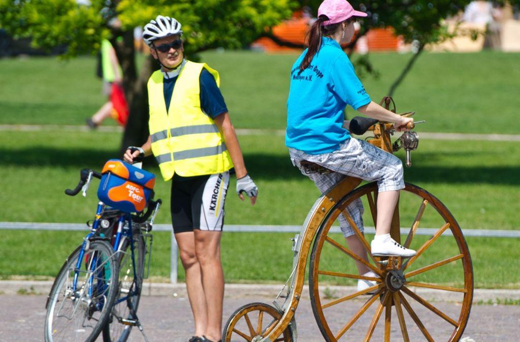 Fahrradfahrer kommen an diesem Wochenende in Stuttgart auf ihre Kosten. Foto: dpa