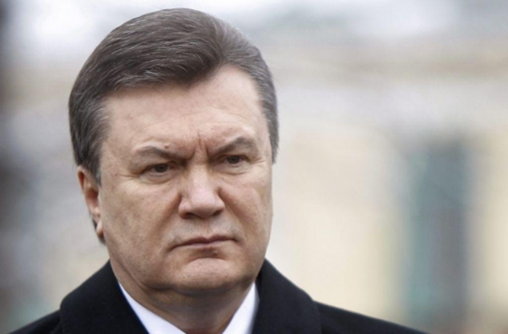 Der frühere ukrainische Präsident Viktor Janukowitsch Foto: epa