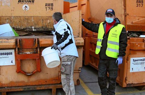 Notfall-Plan für die Müllabfuhr steht