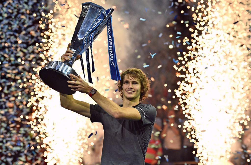 Alexander Zverev hat die ATP Finals in London im Vorjahr gewonnen. Foto: AFP/GLYN KIRK