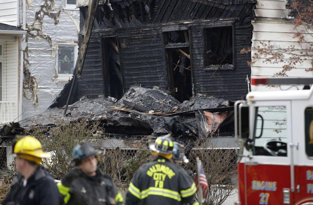 Beim Brand eines Wohnhauses in der US-Stadt Baltimore sind nach Medienberichten sechs Kinder ums Leben gekommen. Foto: AP