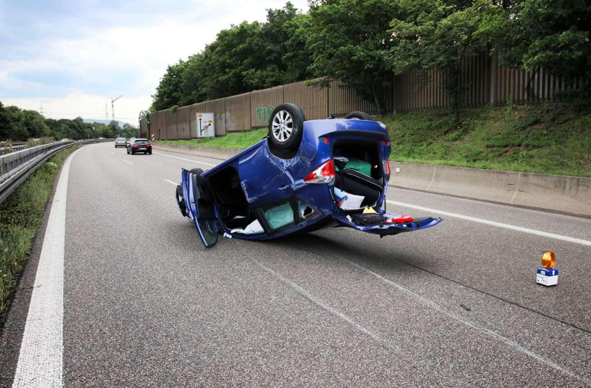 Der Fahrer ist bei dem Unfall schwer verletzt worden. Foto: 7aktuell.de/Kevin Lermer/7aktuell.de | Kevin Lermer