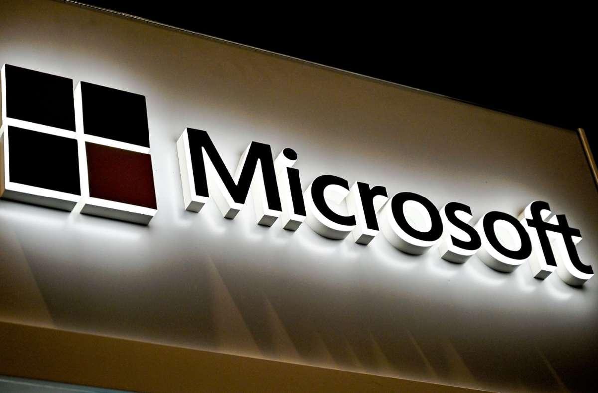 Microsoft wurde am 4. April 1975 von Bill Gates und Paul Allen gegründet. Foto: AFP/DENIS CHARLET