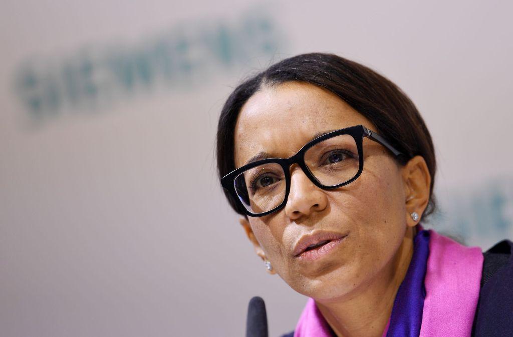 Siemens-Personalchefin Janine Kugel verteidigt die Abbaupläne. Foto: dpa