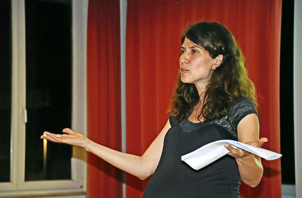 Samar Khoury Haberstroh hat für ihre Masterarbeit Flüchtlinge befragt. Foto: Linsenmann