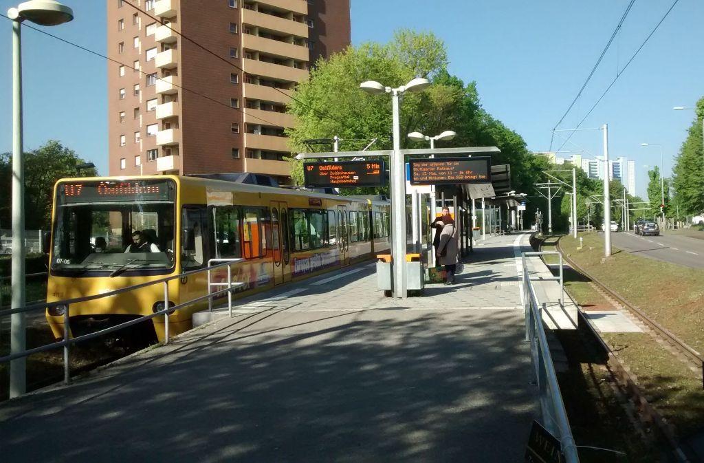 Seit 2010 sorgt die Stadtbahnendstation in Mönchfeld dafür, dass das strukturschwache Viertel im Stuttgarter Norden nicht ganz den Anschluss verpasst. Foto: mim