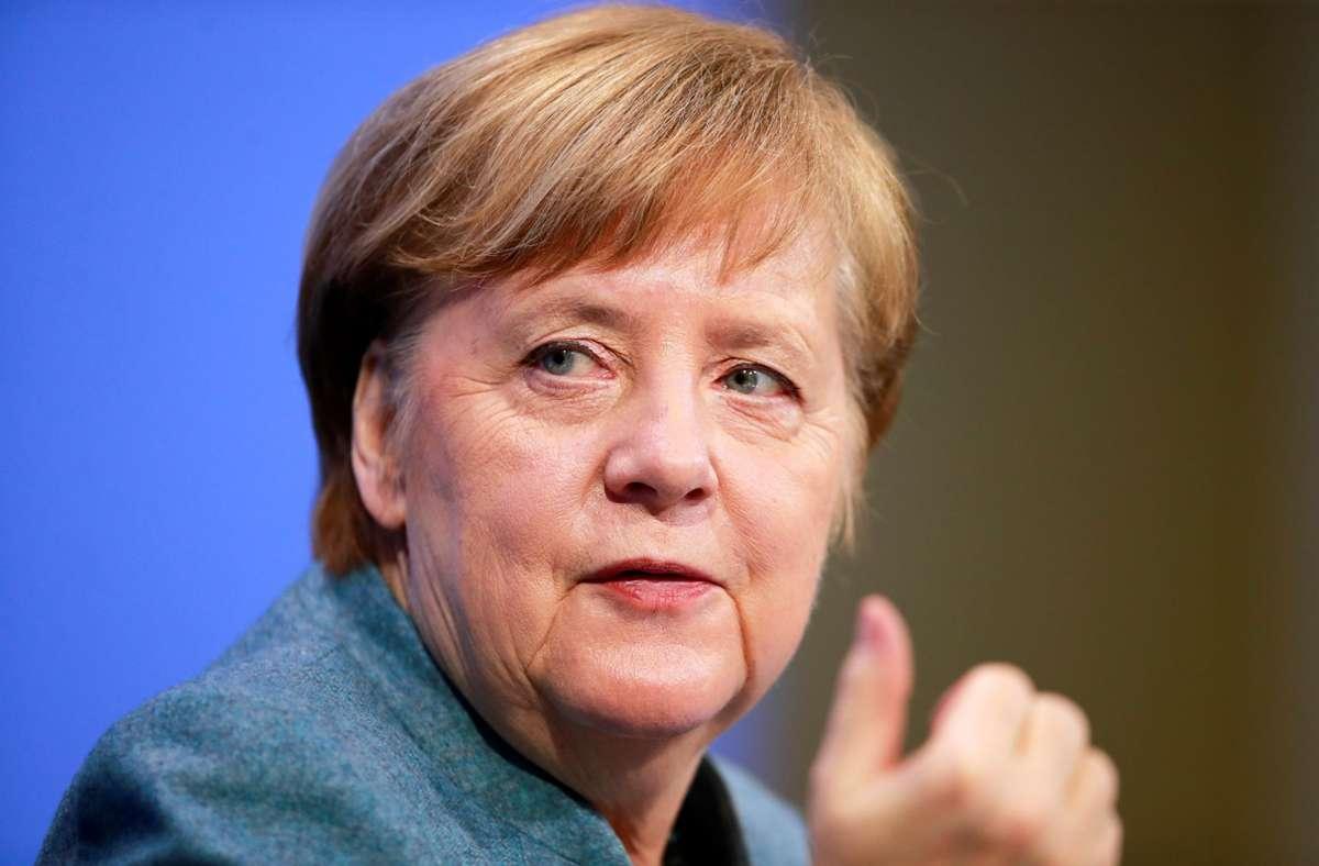 Merkel verwies auf den dramatischen Anstieg der Infektionszahlen in Portugal. Foto: dpa/Hannibal Hanschke