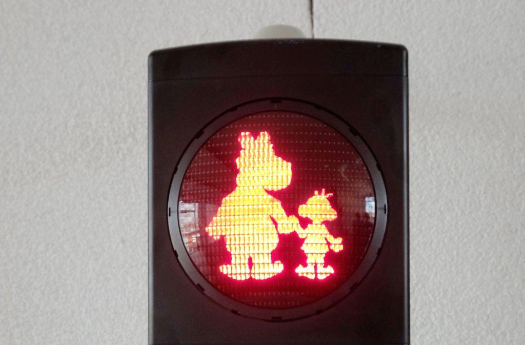 Rotes Licht für die Äffle- und Pferdle-Ampel in Stuttgart. (Archivfoto) Foto: dpa