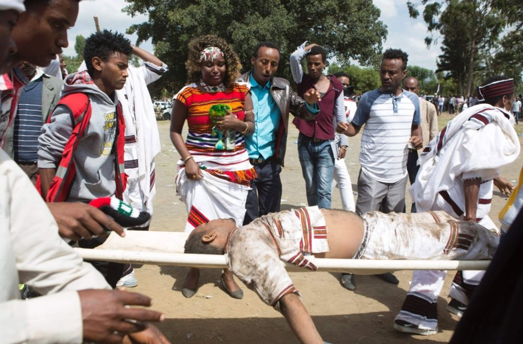 In Äthipien ist es zu einer Massenpanik gekommen. Foto: AFP