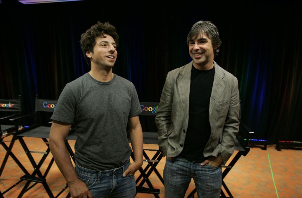 Sergey Brin (links) und Larry Page gründeten 1998 Google. Foto: AP/Paul Sakuma
