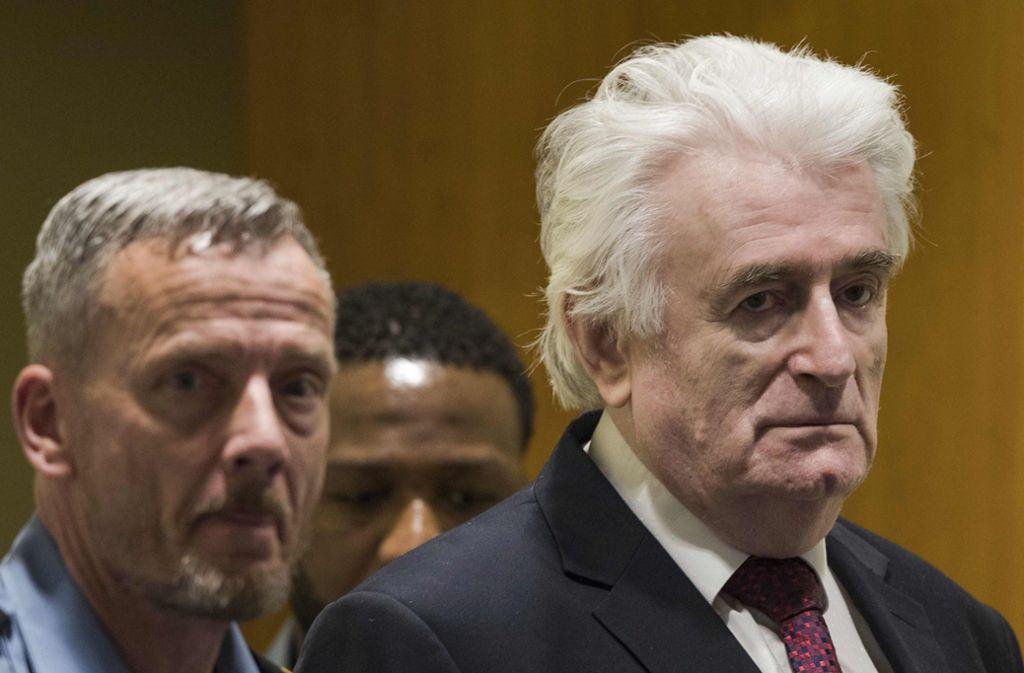 Radovan Karadzic wurde zu einer lebenslangen Haftstrafe verurteilt. Foto: AP