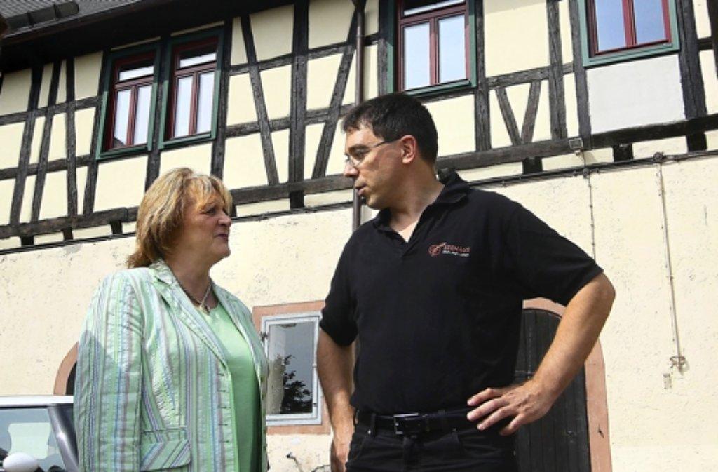 Sabine Leutheusser-Schnarrenberger mit Seehaus-Chef Tobias Merckle. Foto: factum