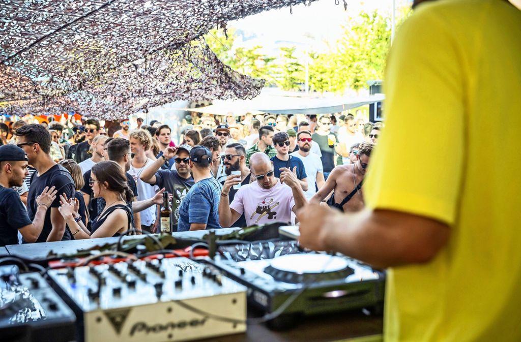 Am Samstag wurde unter freiem Himmel ein Rave veranstaltet. Foto: Lichtgut/ Julian Rettig