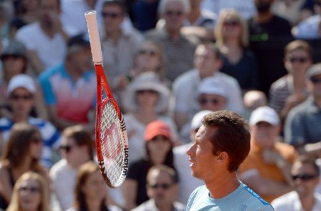 Kein schöner Nachmittag für Philipp Kohlschreiber: Der Tennisprofi unterlag im Endspiel vom Mercedes-Cup in Stuttgart dem ... Foto: dpa