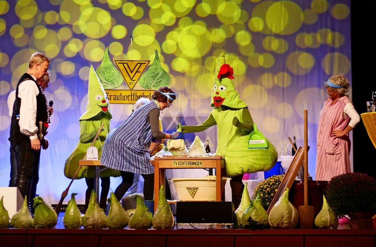Der Krauthobel-Wettbewerb ist ein Klassiker. Der durfte auch in diesem Jahr nicht fehlen. Foto: Breuer