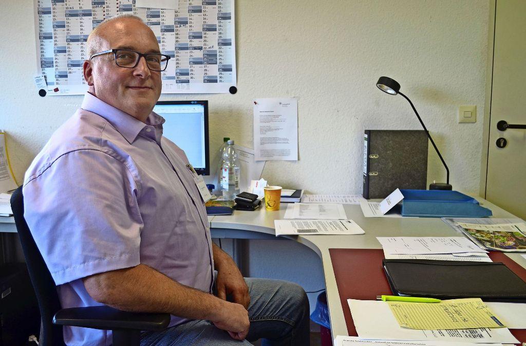 Steffen Schöpp hat vor 17 Jahren als Koch in der Mensa begonnen. Foto: Wiebke Wetschera