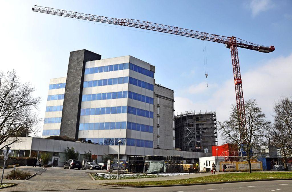 Die Deutsche Rentenversicherung erstellt entlang der Mönchfeldstraße zwei neue Gebäude. Foto: Christoph Noth (z)