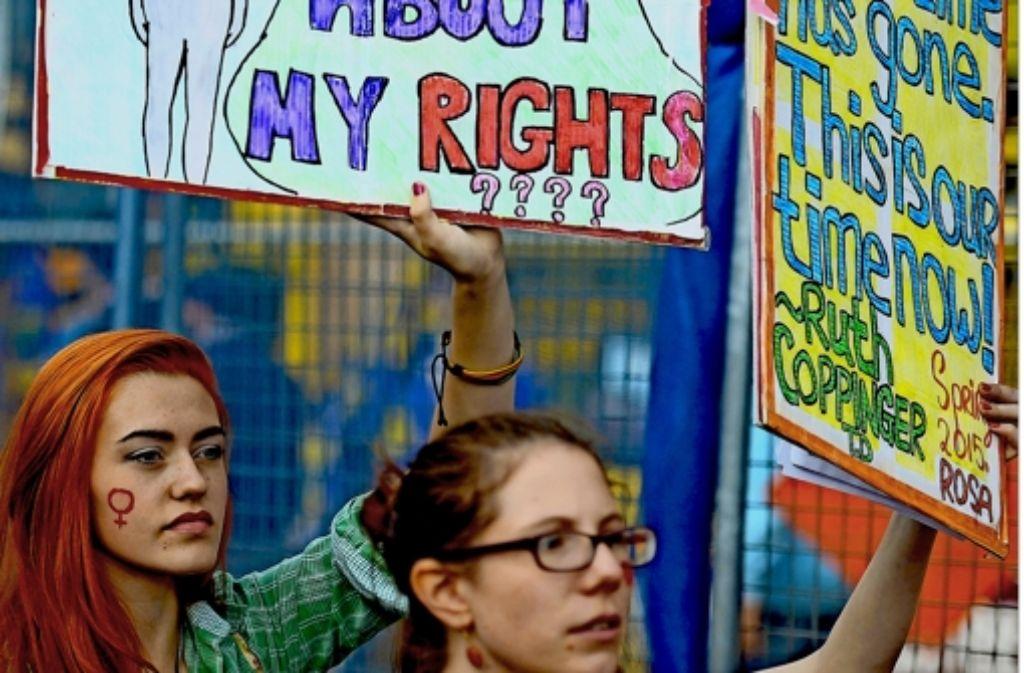 Irinnen demonstrieren im September für das Recht auf Schwangerschaftsabbruch. Foto: dpa
