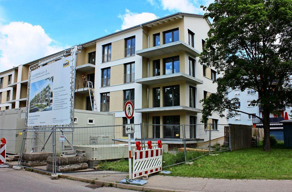 Fertige Module, jedoch kein Plattenbaucharme: Die 32 Wohnungen am Hausenring sind zwar seriell hergestellt, jedoch sollen sie architektonisch attraktiv sein. Foto: Marta Popowska