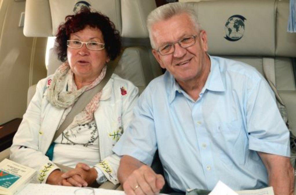 Gerlinde Kretschmann, die Ehefrau von MP Winfried Kretschmann, wird Patin des S21-Albabstiegstunnels. Foto: dpa
