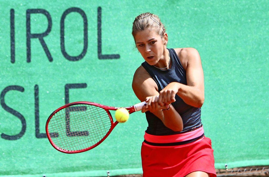 Der TC Leonberg geht 2020  ohne               die ausländischen Spielerinnen  (hier   die Spanierin Nora Ayala-Serra)   an  den Start. Foto: Andreas Gorr