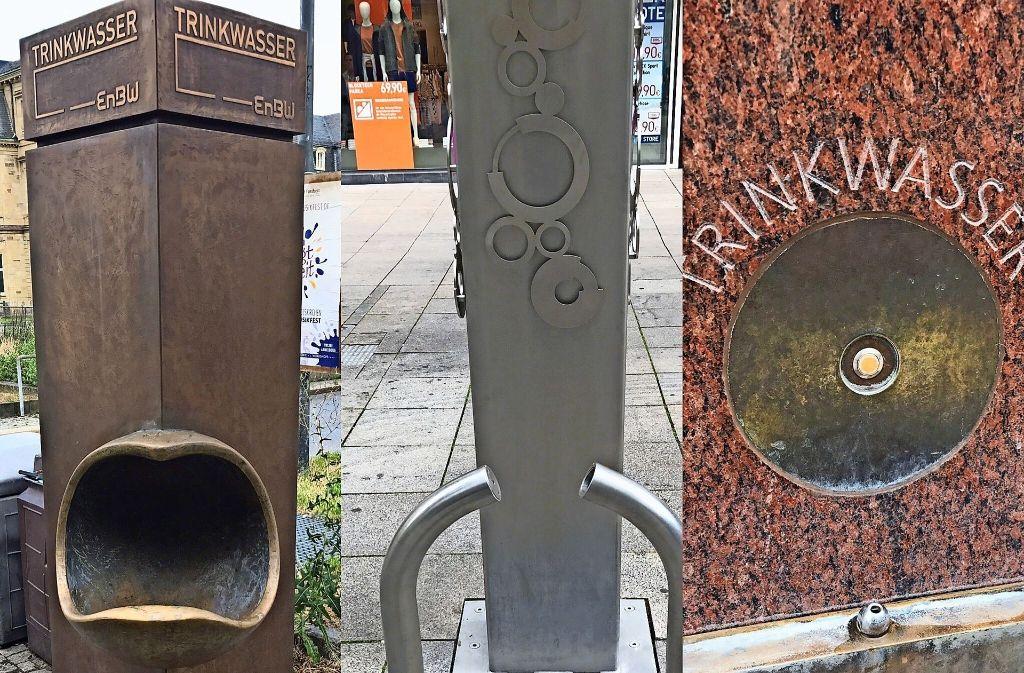 Bis vor Kurzem herrschte diese trostlose Situation: Die Trinkwasser-Brunnen  spendeten keine Erfrischung. Foto: Haar