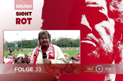 Bruno sieht rot: Beim VfB-Training