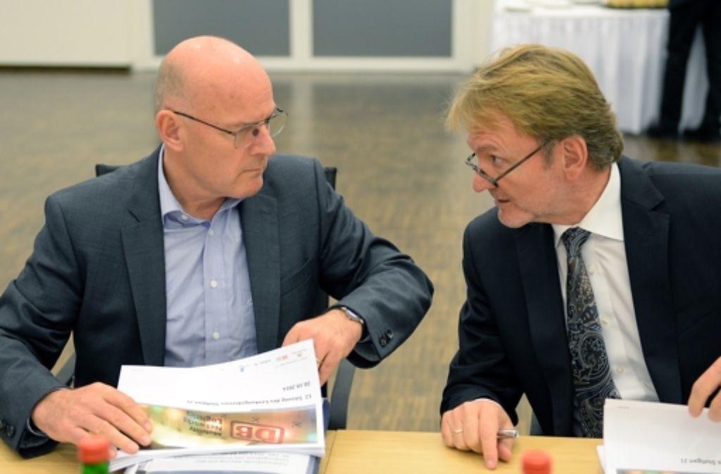 Erklärungsbedarf: Winfried Hermann (links) und Volker Kefer (rechts). Foto: dpa