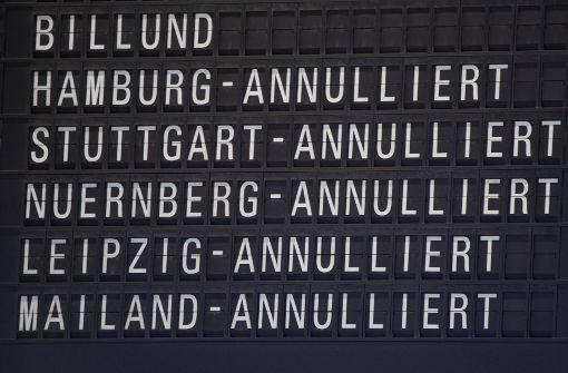 Neun Flüge nach Wintereinbruch annulliert