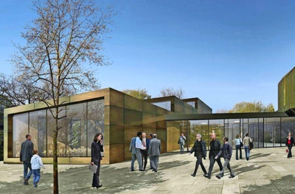 Der überarbeitete Entwurf des Büros  HPP für die Erweiterung der Filderhalle hat von der Jury den Zuschlag erhalten. Foto: Büro HPP/z