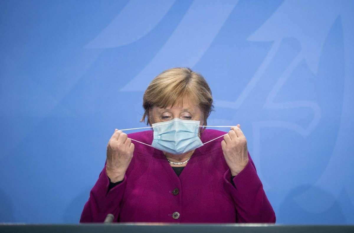 Bundeskanzlerin Angela Merkel hat die Menschen erneut dazu aufgerufen, sich an die Corona-Regeln zu halten. Foto: AFP/STEFANIE LOOS