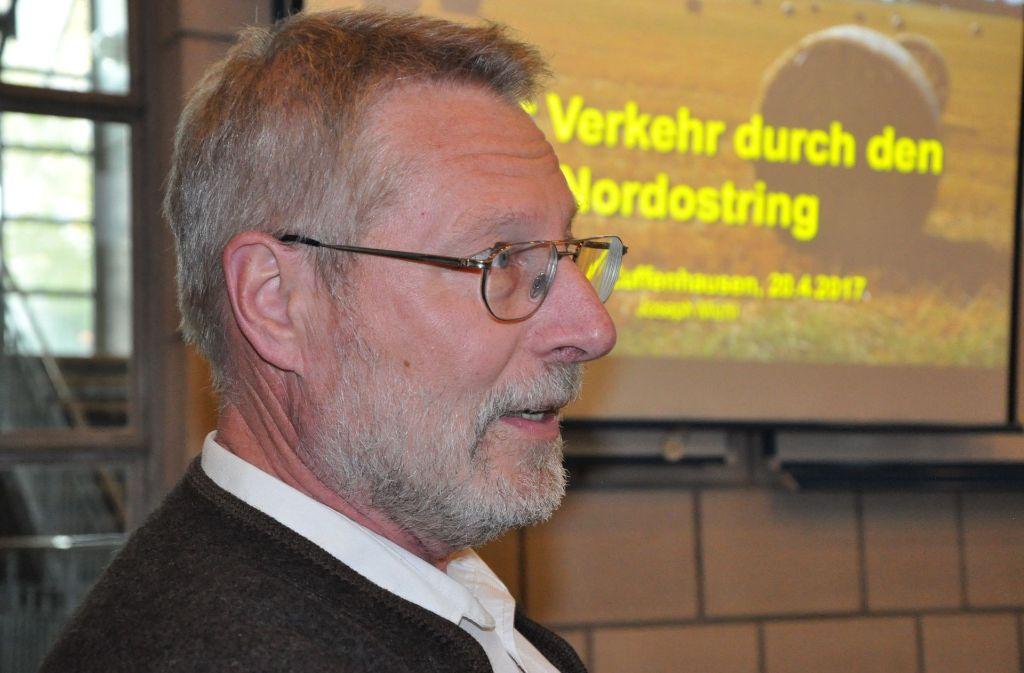 """""""Es ist eine gefährliche Situation"""", betonte Joseph Michl, Vorsitzender   der Arge Nord-Ost Foto: Georg Linsenmann"""