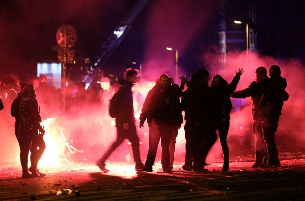 In Leipzig-Connewitz haben vor drei Jahren Rechte randaliert und gepöbelt. Foto: dpa