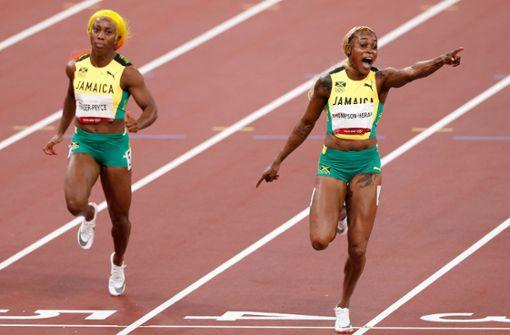 Thompson-Herah läuft olympischen Rekord im 100-Meter-Finale