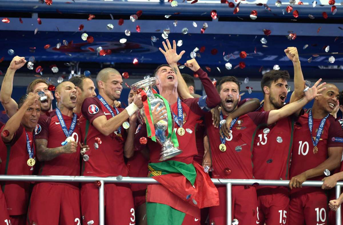 Portugal wurde 2016 Europameister und trifft bei der EM 2021 auf Deutschland. Foto: imago/Sven Simon