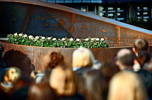 Die Gedenkfeier in Winnenden bleibt  betont still