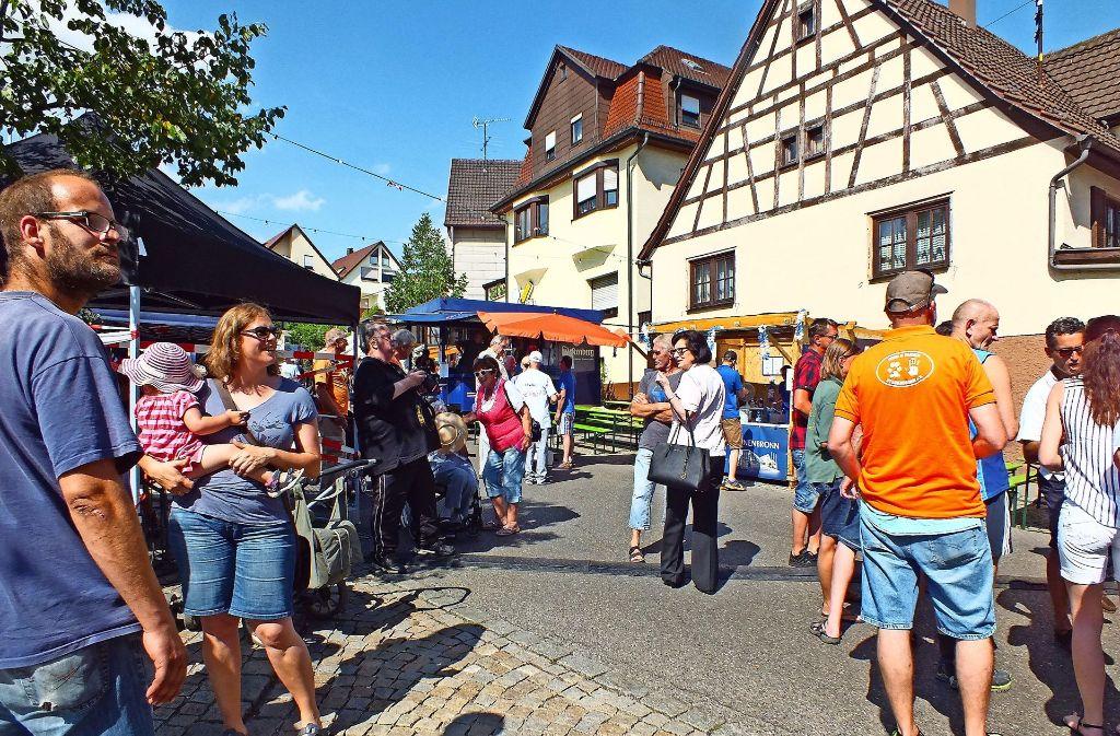 Der strahlend blaue Himmel lockte viele auf das Dorffest in Steinenbronn.  Foto: Saskia Dreßler