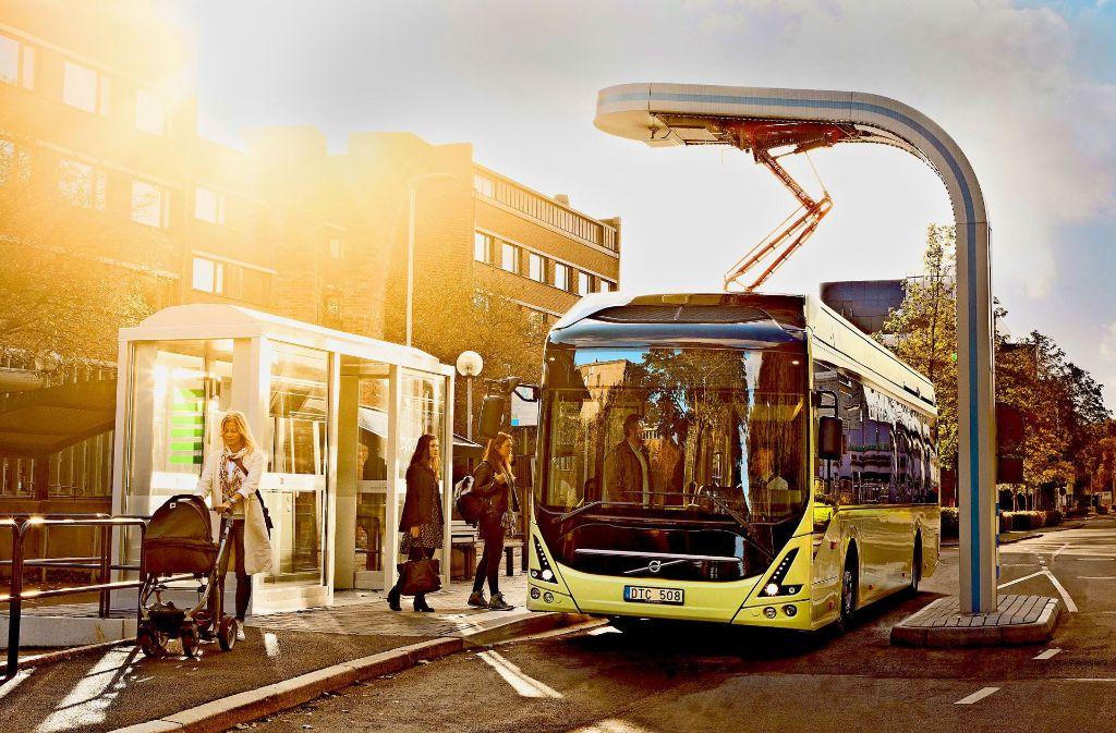 Ein solcher Volvo 7900 könnte zwischen Wilhelmsplatz Bad Cannstatt und Innenstadt verkehren. Foto: Volvo