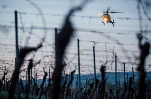 Hubschrauberflüge sollen Weinreben wärmen