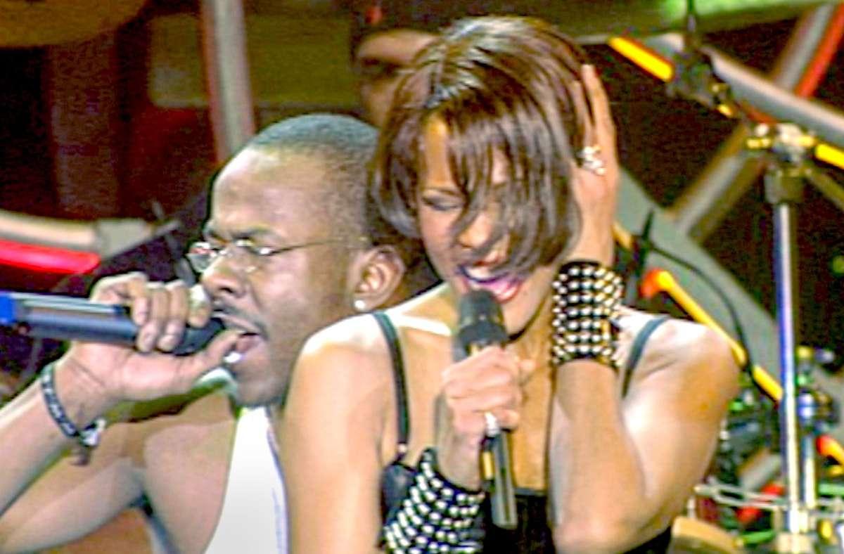 Lebens- und Showpartner: Whitney Houston und Bobby Brown Foto: Arsenal
