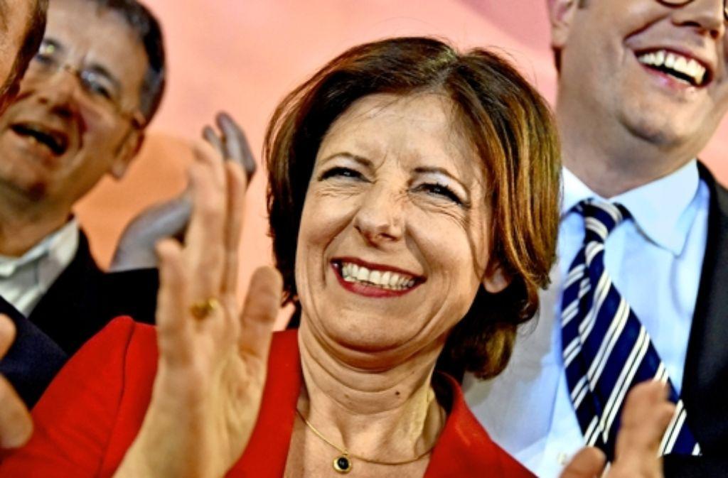 SPD-Amtsinhaberin  Malu Dreyer  wollte einfach nur feiern Foto: Getty