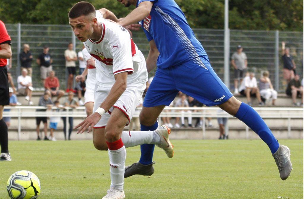 Jugendspieler Leon Dajaku ist beim VfB das große Versprechen auf eine erfolgreiche Zukunft. Foto: Baumann