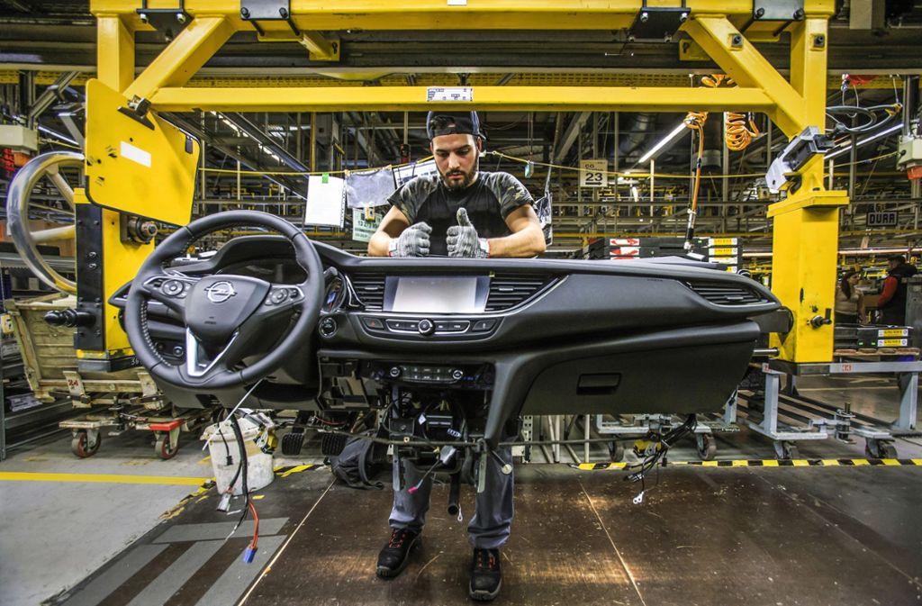 Im Opel-Stammwerk Rüsselsheim wird unter anderem das Modell Insignia gebaut. Foto: Alexander Heimann/Opel